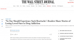 Readers respond to Steve Grant's story which was published in the Wall Street Journal